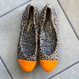 Jessica Simpson Calf Leopard Print Ballet Flats